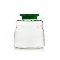 500mL SECUREgrasp® PETG Sterile Bottles with 45mm Green Caps