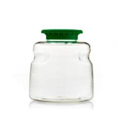 500mL SECUREgrasp® PETG Sterile Bottles with 45mm Green Caps - Case of 24