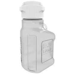 2.5 Liter Clear EZgrip® PETG Carboy with 83mm Closed Cap