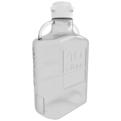 10 Liter Clear EZgrip® PETG Carboy with 83mm Closed Cap