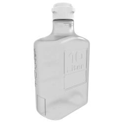 10 Liter Clear EZgrip® Polycarbonate Carboy with 83mm Closed Cap