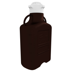 20 Liter Dark Amber EZgrip® HDPE Carboy with 83mm Closed Cap