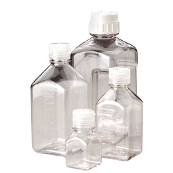 Thermo Scientific™  Nalgene™ Square PETG Media Bottles with Caps