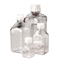 Thermo Scientific™  Nalgene™ Square PETG Media Bottles with Caps