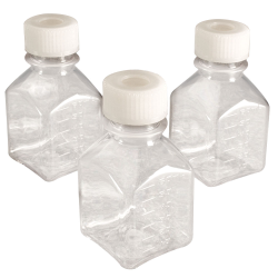 Thermo Scientific™  Nalgene™ Square Sterile PETG Media Bottles with Septum Caps