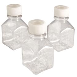 Thermo Scientific™  Nalgene™ Square Sterile PETG Media Bottles with Septum Caps