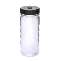 400mL Polycarbonate Wide Mouth Graduated Bottles with 63mm Caps - Case of 72