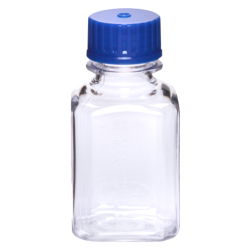 60mL Polycarbonate Graduated Square Bottles with 24/415 Caps