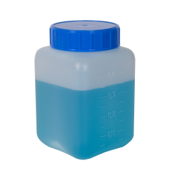 500mL HDPE Rectangular Wide Mouth Graduated Bottle