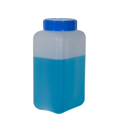 1000mL HDPE Rectangular Wide Mouth Graduated Bottle