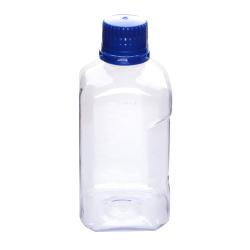 2000mL PETG Graduated Square Sterile Bottles with 53B  Blue Tamper Evident Caps