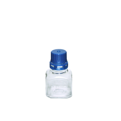 30mL PET Graduated Square Sterile Bottles with 20/415  Blue Tamper Evident Caps