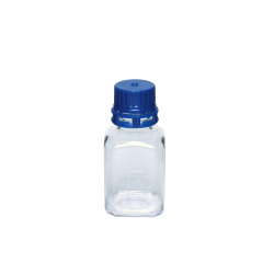60mL PET Graduated Square Sterile Bottles with 24/415  Blue Tamper Evident Caps