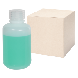 4 oz./125mL Nalgene™ Lab Quality Narrow Mouth HDPE Bottles with 24mm Caps - Case of 72