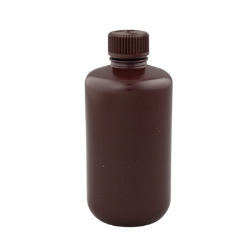 Thermo Scientific™ Nalgene™ Narrow Mouth Amber Bottles with Caps (Sold by Case)
