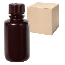 2 oz./60mL Nalgene™ Narrow Mouth Amber Bottles with 20mm Caps - Case of 72