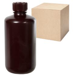 8 oz./250mL Nalgene™ Narrow Mouth Amber Bottles with 24mm Caps - Case of 72