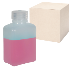 4 oz./125mL Nalgene™ HDPE Rectangular Bottles with 28mm Caps - Case of 72