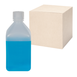 32 oz./1000mL Nalgene™ Narrow Mouth Polypropylene Square Bottles with 38/430 Caps - Case of 24