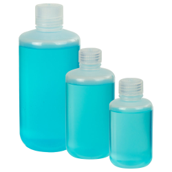 Thermo Scientific™ Nalgene™ Narrow Mouth Economy Polypropylene Bottles with Caps (Sold by Case)