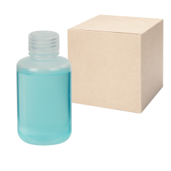 4 oz./125mL Nalgene™ Narrow Mouth Economy Polypropylene Bottles with 24mm Caps - Case of 72