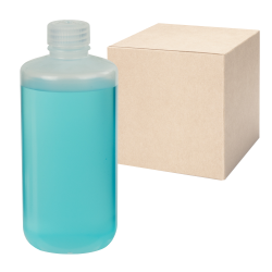 16 oz./500mL Nalgene™ Narrow Mouth Economy Polypropylene Bottles with 28mm Caps - Case of 48