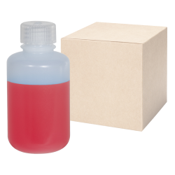 4 oz./125mL Nalgene™ Narrow Mouth IP2 HDPE Shipping Bottles with 24mm Caps - Case of 72