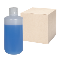32 oz./1000mL Nalgene™ Narrow Mouth IP2 HDPE Shipping Bottles with 38mm Caps - Case of 24