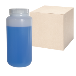 32 oz./1000mL Nalgene™ Lab Quality Wide Mouth HDPE Bottles with 63mm Caps - Case of 24