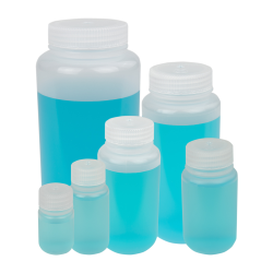 Thermo Scientific™ Nalgene™ Lab Quality Wide Mouth Polypropylene Bottles with Caps (Sold by Case)