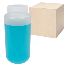 32 oz./1000mL Nalgene™ Lab Quality Wide Mouth Polypropylene Bottles with 63mm Caps - Case of 24