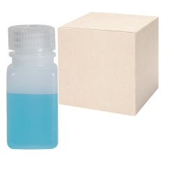 2 oz./60mL Nalgene™ Wide Mouth Polyethylene Square Bottles with 28mm Caps - Case of 72