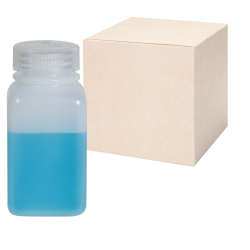 6 oz./175mL Nalgene™ Wide Mouth Polyethylene Square Bottles with 38mm Caps - Case of 72