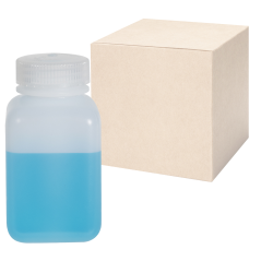 8 oz./250mL Nalgene™ Wide Mouth Polyethylene Square Bottles with 43mm Caps - Case of 72