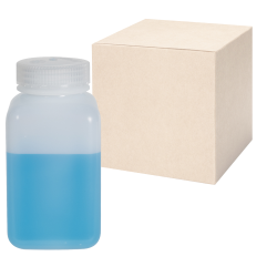 16 oz./500mL Nalgene™ Wide Mouth Polyethylene Square Bottles with 53mm Caps - Case of 48