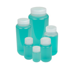 Thermo Scientific™ Nalgene™ Wide Mouth Economy Polypropylene Bottles with Caps (Sold by Case)