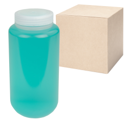 32 oz./1000mL Nalgene™ Wide Mouth Economy Polypropylene Bottles with 63mm Caps - Case of 24