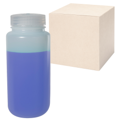 16 oz./500mL Nalgene™ Wide Mouth IP2 HDPE Shipping Bottles with 53mm Caps - Case of 48