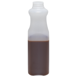 Tall Square HDPE 32 oz. Beverage Bottle with SSJ Neck