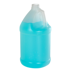 1 Gallon Natural HDPE Economy Industrial Round Jug with 38/400 Neck (Cap Sold Separately)