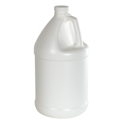 1 Gallon White Economy Industrial Round Jug with 38/400 Plain Cap with F217 Liner