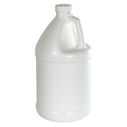 1 Gallon White Economy Industrial Round Jug with 38/400 CRC Cap