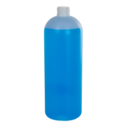 32 oz. HDPE Natural Tall Cosmo Bottle with 28/410 Neck (Cap Sold Separately)