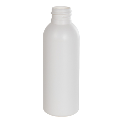 2 oz. HDPE White Cosmo Bottle with 20/410 Neck (Cap Sold Separately)