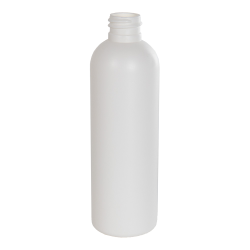 4 oz. HDPE White Cosmo Bottle with 20/410 Neck (Cap Sold Separately)