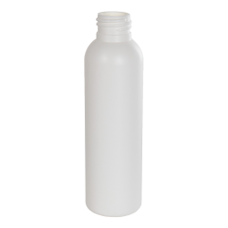 4 oz. HDPE White Tall Cosmo Bottle with 24/410 Neck (Cap Sold Separately)
