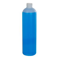 12 oz. HDPE Natural Cosmo Bottle with 24/410 Neck (Cap Sold Separately)