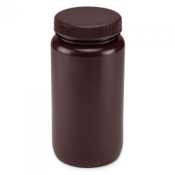 Diamond® RealSeal™ HDPE Amber Large Format Bottle with Cap
