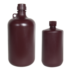 Diamond® RealSeal™ Polypropylene Amber Large Format Narrow Mouth PP Bottles with Cap