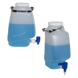 Diamond® RealSeal™ Rectangular Polypropylene Carboys with Spigot